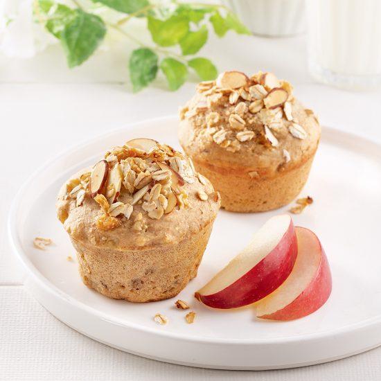 Muffins aux pommes et crumble