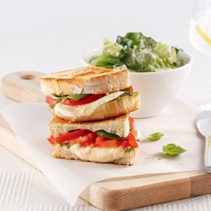 Grilled cheese caprese
