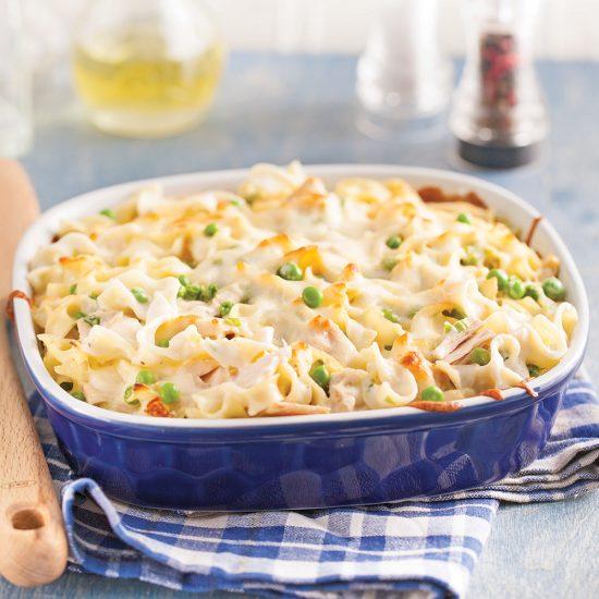 Gratin de nouilles au thon à congeler