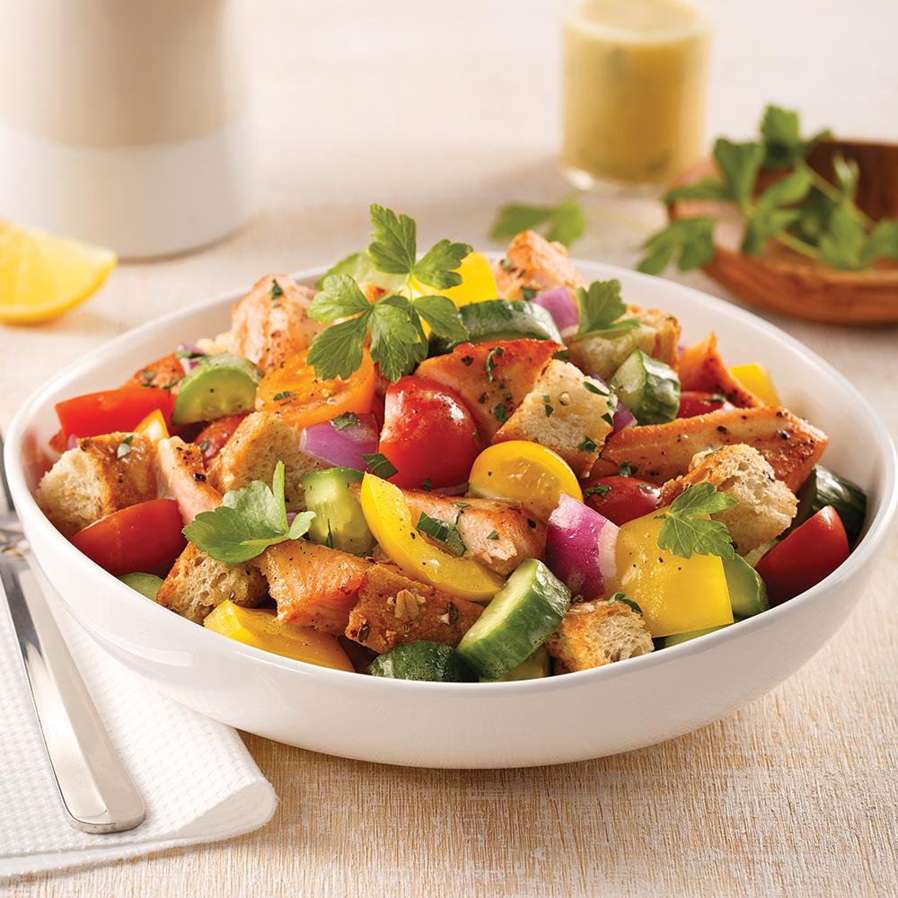 Salade de saumon panzanella
