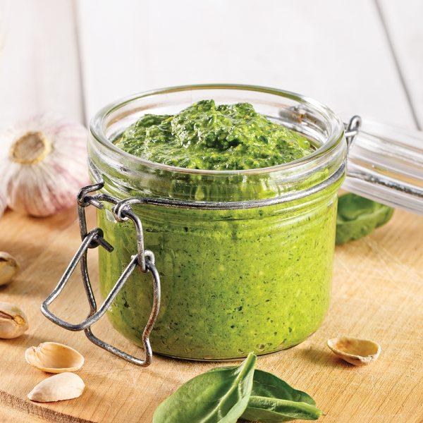 Pesto pistaches et épinards