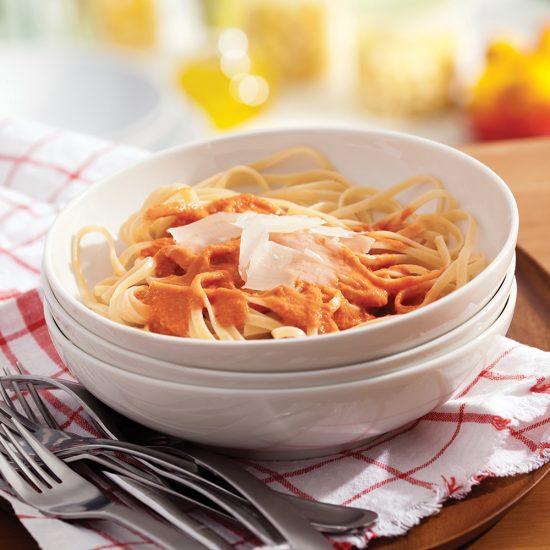 Linguines sauce rosée