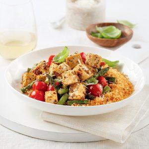 Tofu mariné aux tomates séchées