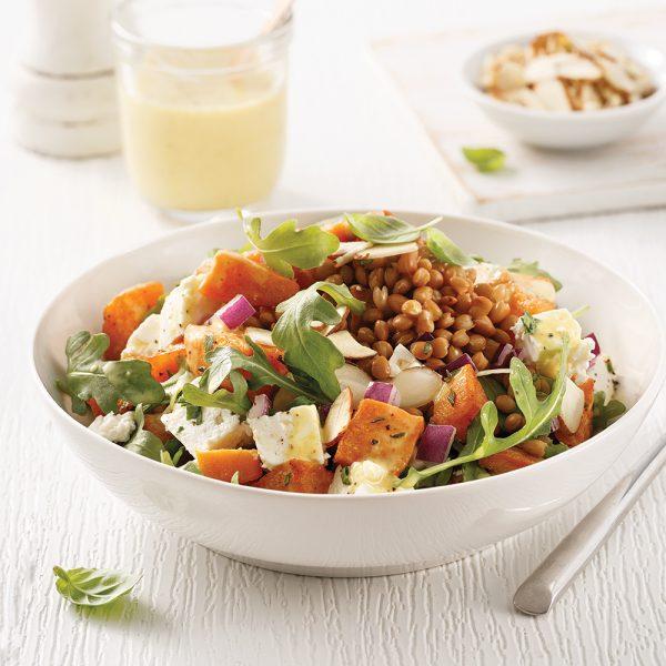 Salade de patates douces et lentilles