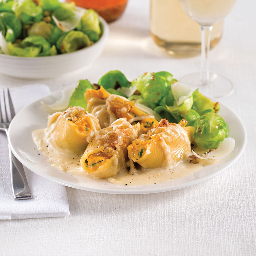 Coquilles farcies a la courge musquee