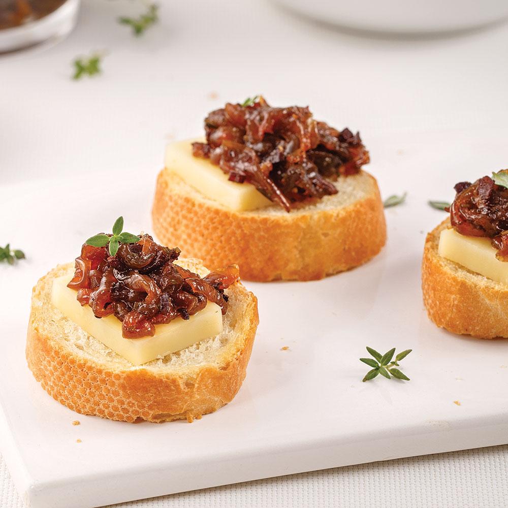 Confit d'oignons et bacon