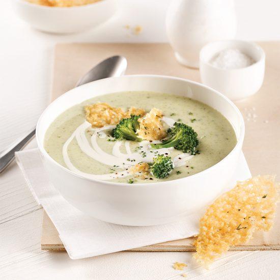 Crème de brocoli et chou-fleur au fromage à la mijoteuse