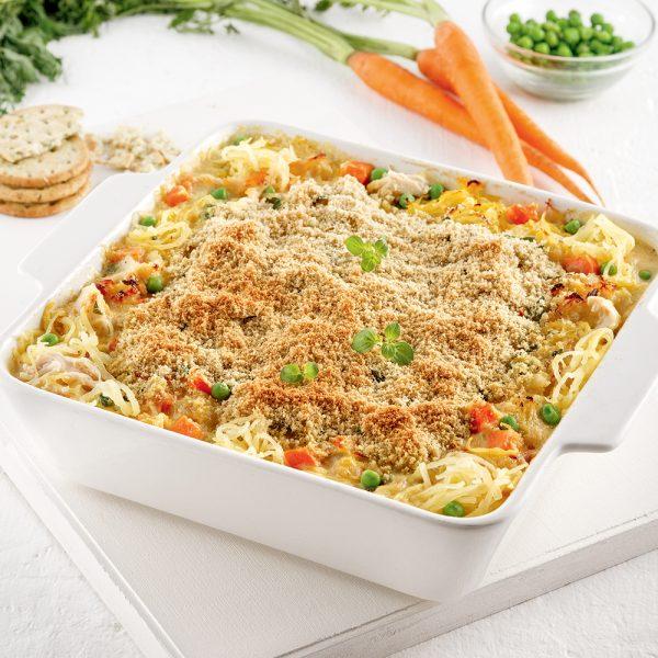 Casserole de courge spaghetti style pâté au poulet