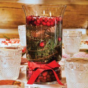 Confectionner un centre de table naturel pour Noël