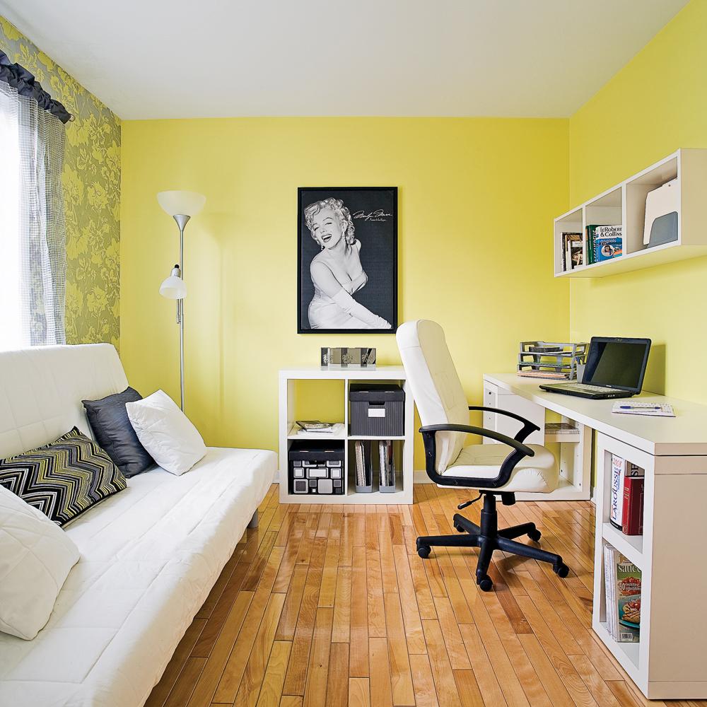 Deco Chambre Maryline Monroe cohabitation du coin bureau et de la chambre d'ami - je décore