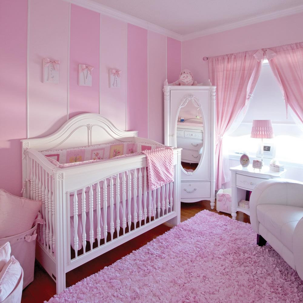 Décor Rose Romantique Pour Chambre De Bébé