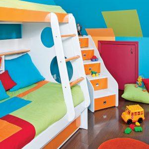 Festival des couleurs pour la chambre d'enfant