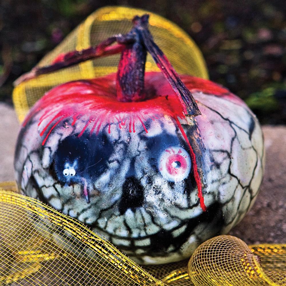 Citrouille squelettique pour Halloween