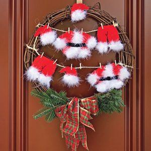 Faire une corde à linge du Père Noël