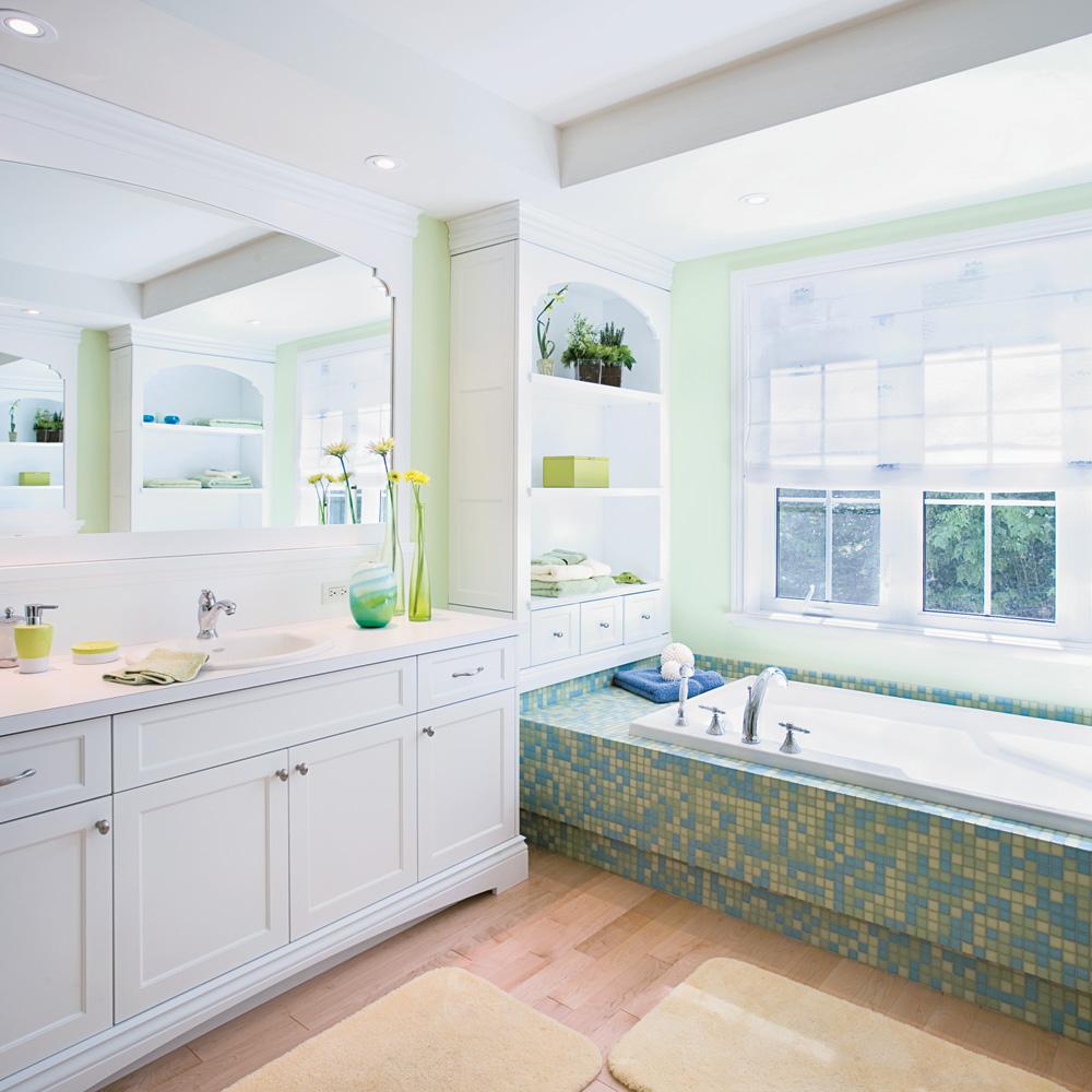Salle de bain vert tendre je d core - Je decore salle de bain ...