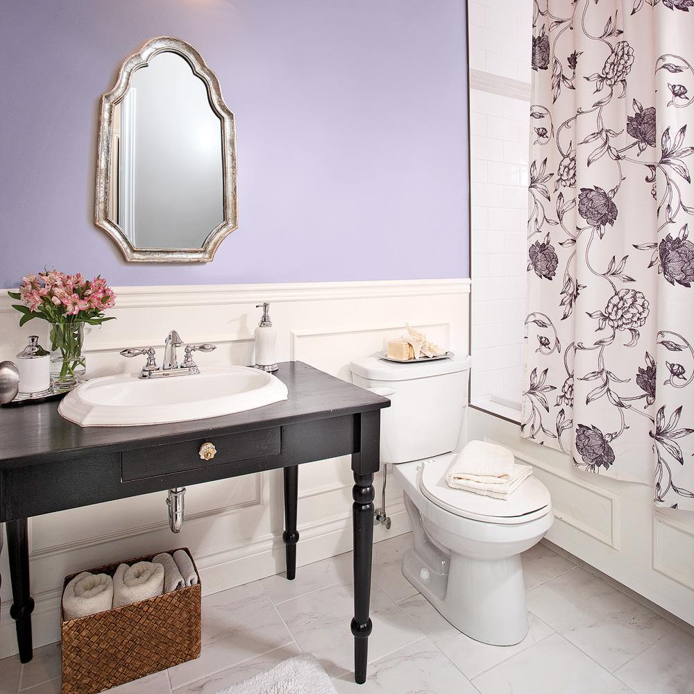 Salle De Bain Saumon parfum de lavande dans la salle de bain - je décore