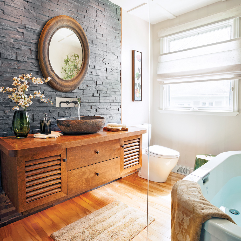 Esprit zen dans la salle de bain