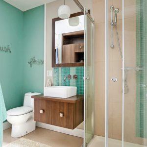 Vagues de bleu pour la salle de bain