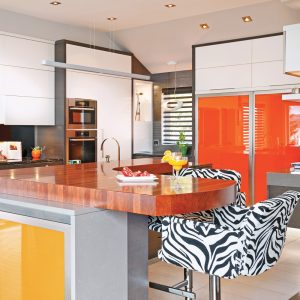 Color block à la cuisine