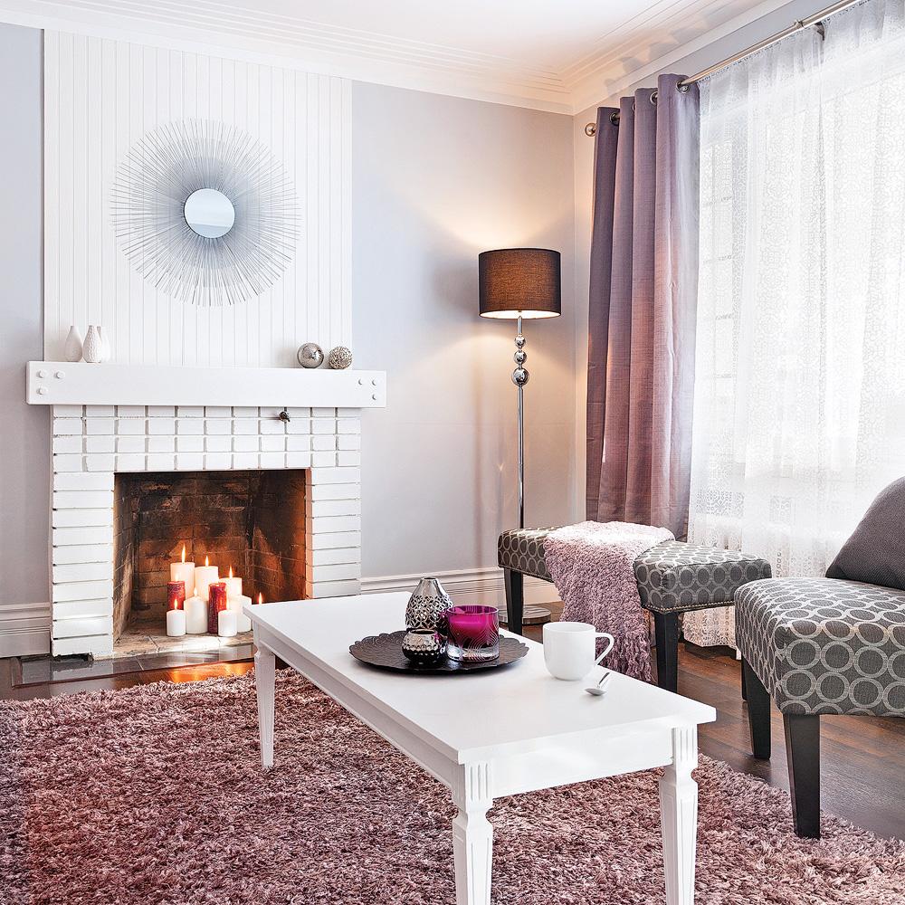 Salon glamour en violet pastel - Je Décore
