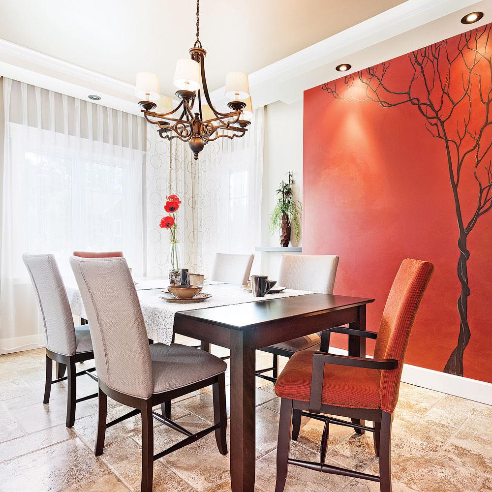 Couleur Salle De Sejour belle murale dans la salle à manger - je décore