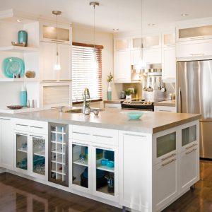 Une cuisine claire et fonctionnelle