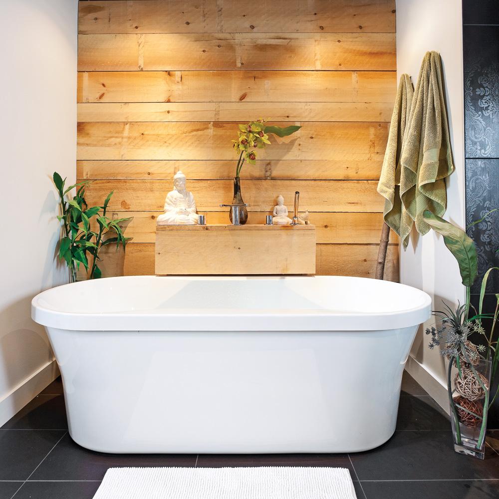 Une salle de bain zen et enveloppante - Je Décore