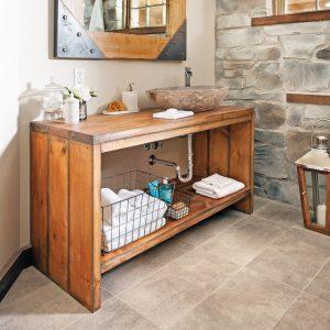 Créer un meuble-lavabo en bois