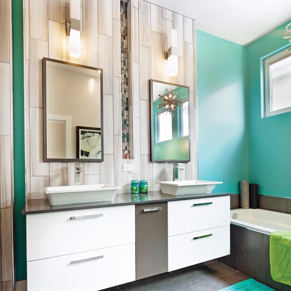 Chaleureuse combinaison dans la salle de bain je d core - Je decore salle de bain ...