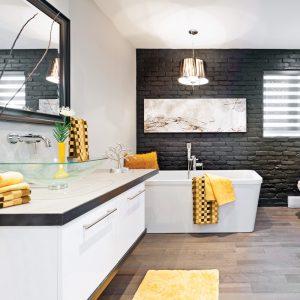Rusticité moderne dans la salle de bain