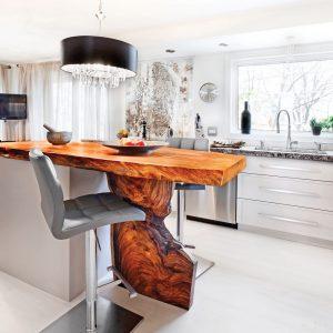 Chaleur moderne dans la cuisine