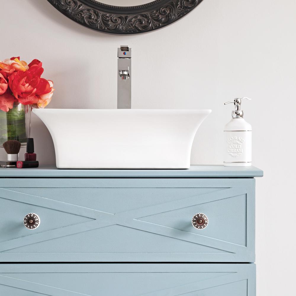transformer commode en meuble lavabo