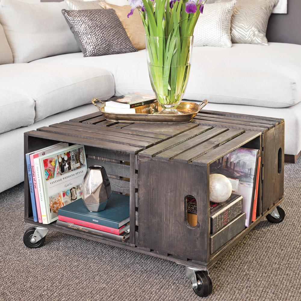 Comment Fabriquer Une Caisse En Bois en étapes: une table à café en caisses de bois - je décore