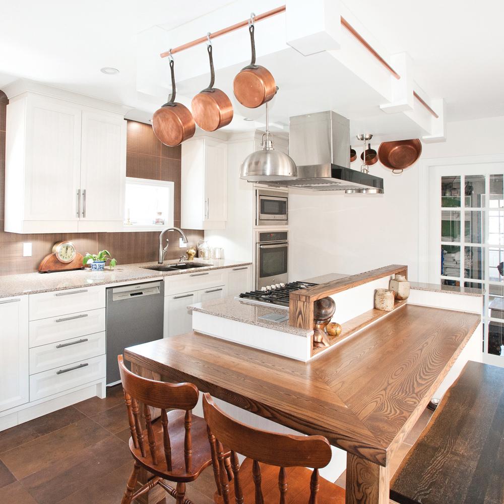 Look rustico-actuel pour la cuisine