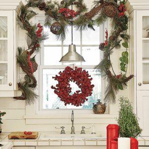 Une cuisine de style rustique pour Noël