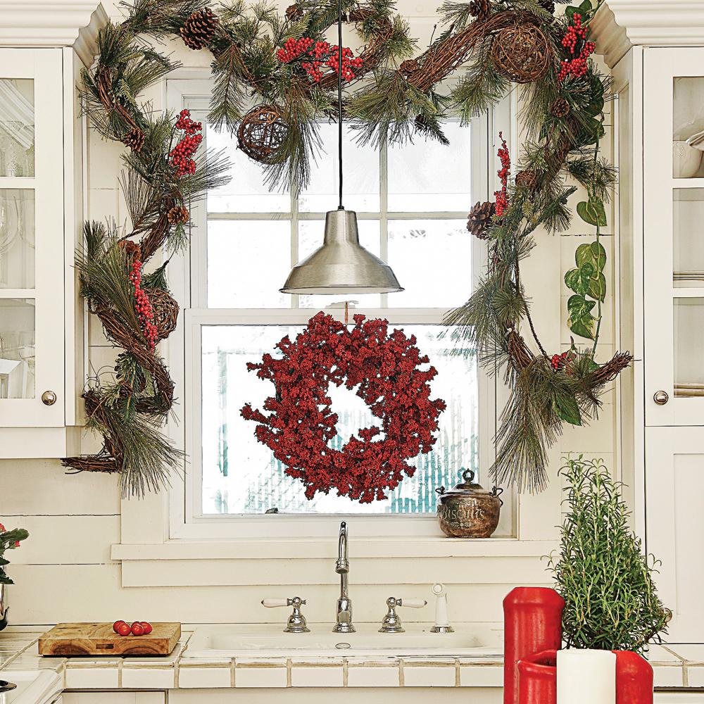 Une cuisine de style rustique pour Noël - Je Décore