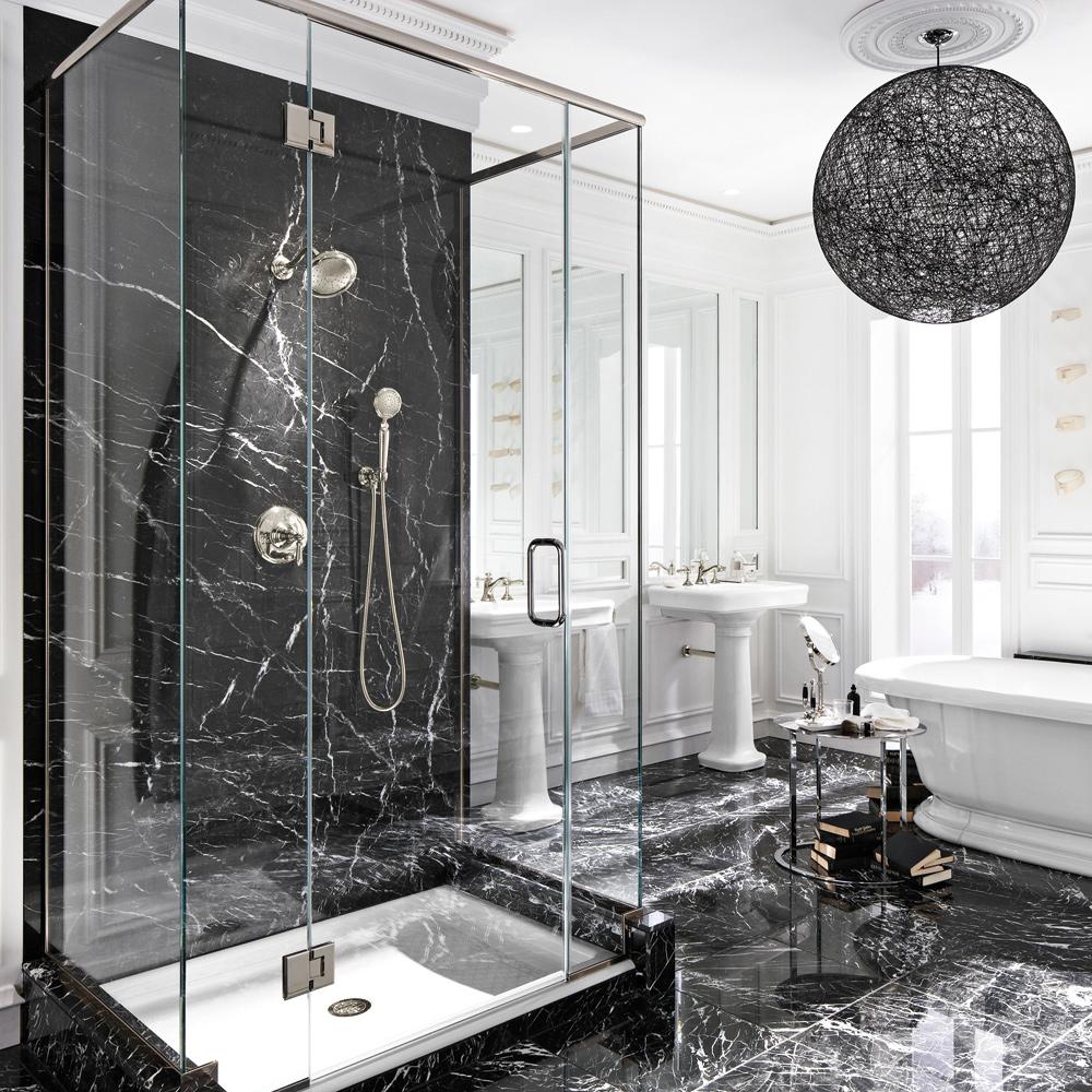 Le luxe du marbre noir dans la salle de bain - Je Décore