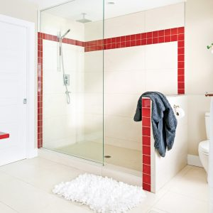 Salle de bain grand format