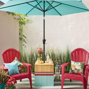 Projet DIY: une table-parasol originale