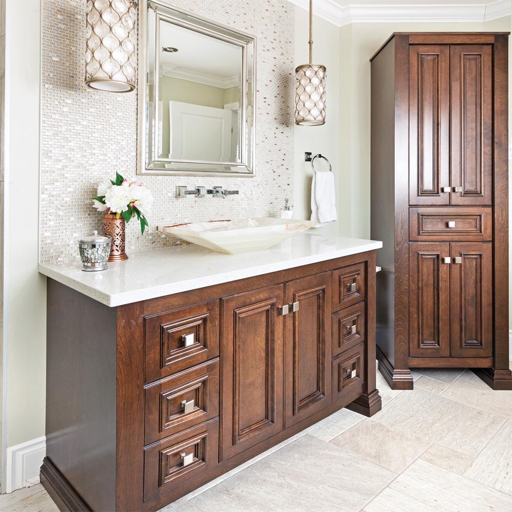 Ornement chic pour une salle de bain classique - Je Décore