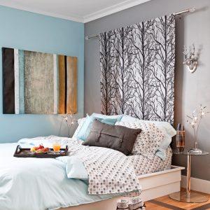 Tête de lit rideau