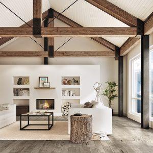 Le mélange bois et blanc à la scandinave