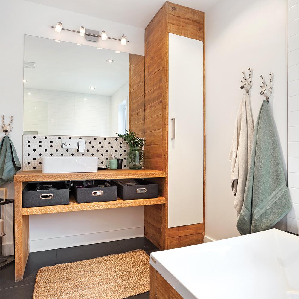 Salle de bain rustique scandinave - Je Décore