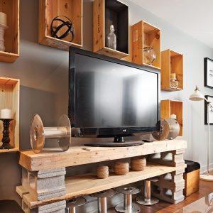 Coin-télé en mode recyclé
