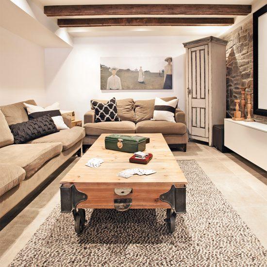 Sous-sol: parfait espace cocooning!