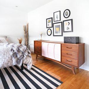Chambre rétro-scandinave transformée pour 800$