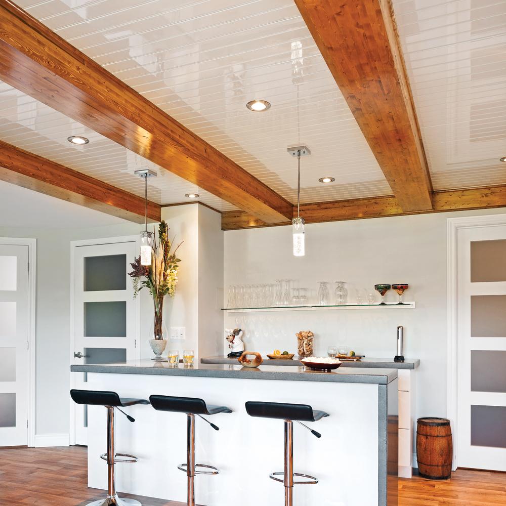 Un plafond chic et rustique