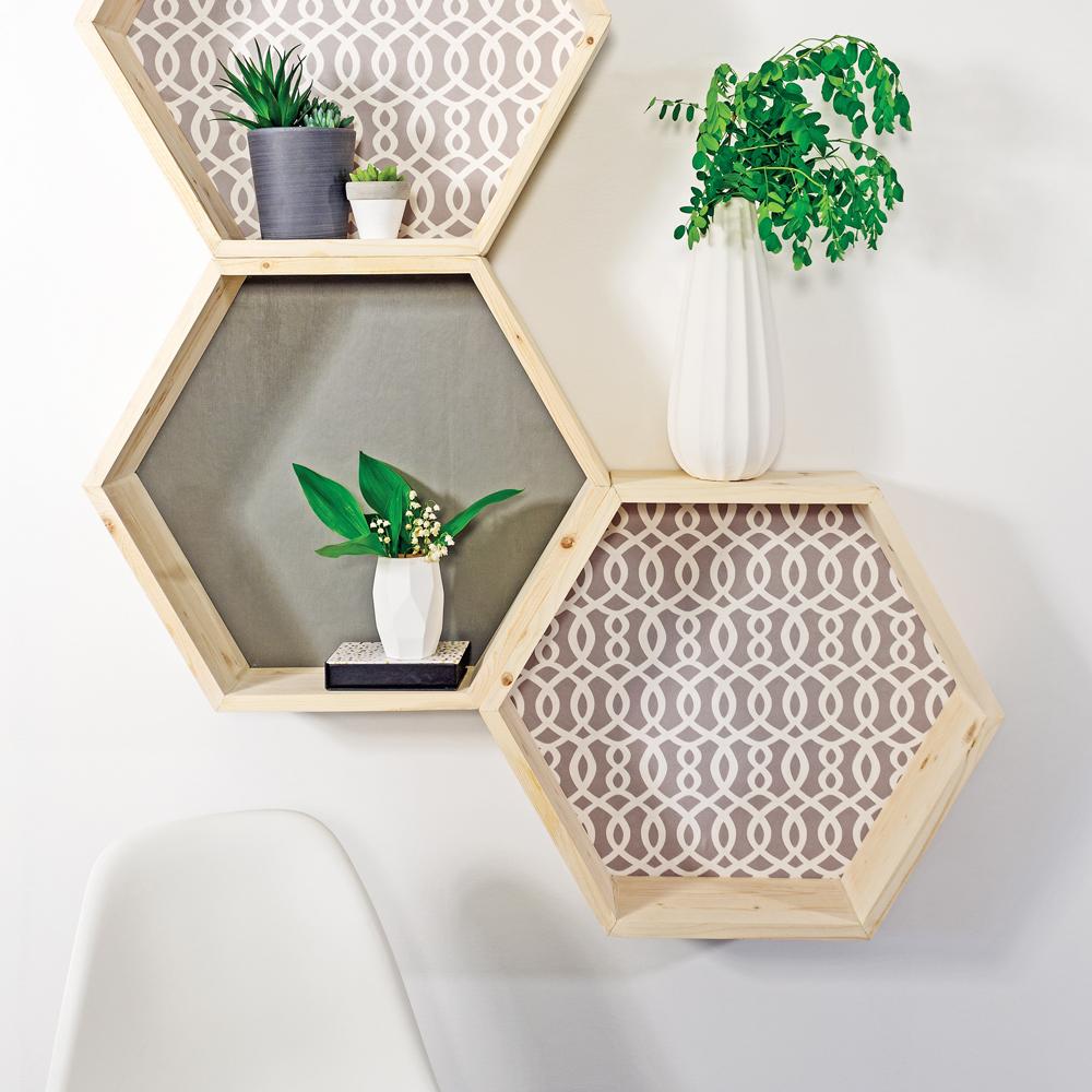 DIY – Tablettes géométriques