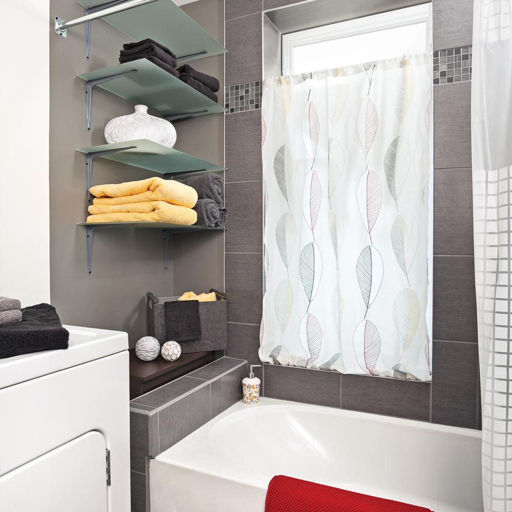 Photo De Rideau Pour Fenetre rideaux sans couture pour la salle de bain - je décore
