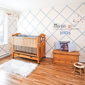 Losange ludique pour la chambre de bébé